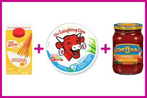 Egg Beaters + The Laughing Cow Cheese + Salsa