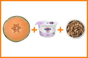Cantaloupe + Greek Yogurt + Walnuts