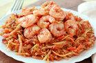 Hungry Girl's Healthy Shrimp 'n Slaw Marinara Recipe