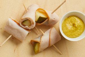 Turkey + Pickles = Turkey Rollups