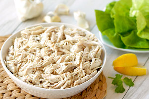 Hungry Girl Healthy Garlic 'n Herb Shredded Chicken Recipe