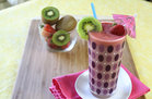 Hungry Girl's Healthy Double-0-Strawberry Quickie Kiwi Smoothie Recipe