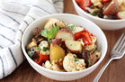 Hungry Girl's Healthy Warm Roasted Veggie Potato Salad Recipe