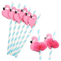 Flamingo Paper Drinking Straws