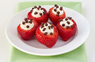 Hungry Girl's Healthy Chocolate-Chip-Stuffed Strawberries Recipe
