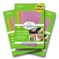 The Crown Choice Non-Scratch Scourer Cloth (6 Pieces)