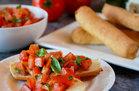 Cauliflower Breadsticks with Bruschetta