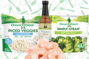 Peanut Shrimp & Veggie Bowl