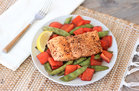 Hungry Girl's Healthy Balsamic Honey Salmon 'n Veggies Recipe