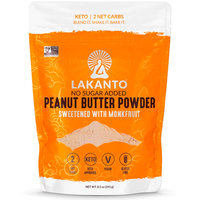 Lakanto No Sugar Added Peanut Butter Powder Sweetened with Monkfruit