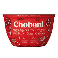 Chobani Apple Spice Greek Yogurt with Brown Sugar Oatmeal