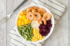 Hungry Girl's Healthy Shrimp 'n Veggie Power Bowl Recipe