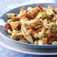 Healthy French Fries: Bacon 'n Cheese Turnip Fries