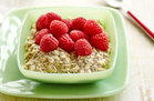 Hungry Girl's Healthy Vanilla Overnight Oats with Raspberries Recipe