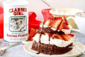 Chocolate Strawberry Shortcake in a Mug
