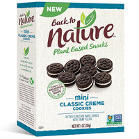 Back to Nature Plant Based Snacks Mini Classic Creme Cookies