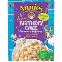 Annie's Homegrown Organic Birthday Cake Bunnies & Balloons Corn, Oat & Rice Cereal