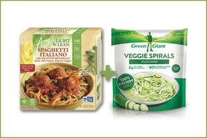 Frozen Pasta-Based Dinners + Veggie Noodles