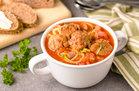 Z'paghetti & Meatball Soup
