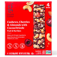 Good & Gather Fruit & Nut Bars in Cashews, Cherries & Almonds with Cocoa Drizzle