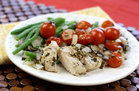 Hungry Girl's Healthy Herbed-Up Spring Chicken Packet Recipe