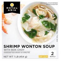 Royal Asia Shrimp Wonton Soup with Bok Choy