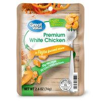 Great Value Premium White Chicken in Fajita Flavored Sauce