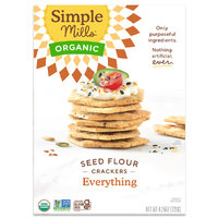 Simple Mills Organic Seed Flour Everything Crackers