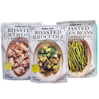 Trader Joe's Roasted Green Beans, Roasted Cauliflower, and Roasted Broccoli with Olive Oil, Sea Salt and Black Pepper