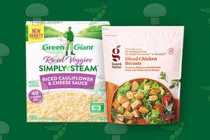 2-Ingredient Cheesy Chicken & Cauliflower Rice