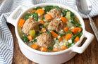 Italian Wedding Soup with Cauliflower Rice