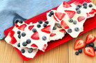 Hungry Girl's Healthy Red, White & Blueberry Fro-Yo Bark Recipe