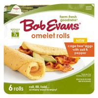 Bob Evans Omelet Rolls Cage Free Eggs with Salt & Pepper