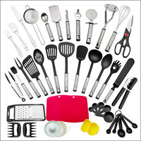 43-Piece Nylon Kitchen Utensils Set