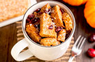Hungry Girl's Healthy Pumpkin Cranberry French Toast in a Mug Recipe