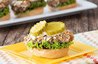 Pretzel-Coated Pork Sliders