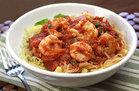 Spaghetti Squash & Shrimp Arrabbiata