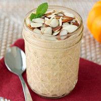 Make-Ahead Breakfast: Pumpkin Pie Overnight Flax Oat Surprise