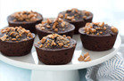 Mini Flourless PB Chocolate Cakes