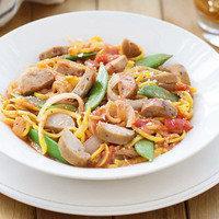 Healthy Spiralizer Recipes: Chicken Sausage 'n Spiralized Veggies