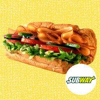 HG's Drive-Thru Meals Under 350 Calories: Subway Turkey Breast on 6-Inch 9-Grain Wheat Bread