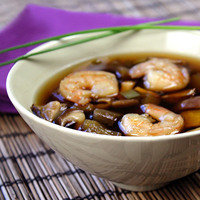 Hungry Girl's Healthy Kazu's Special Eggplant & Shrimp Soup Recipe