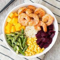 Healthy Bowl Recipes: Shrimp 'n Veggie Power Bowl