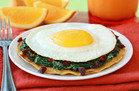 Cheesy Spinach Breakfast Tostada