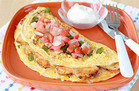 Hungry Girl's Healthy Loaded Chicken Fajita Omelette Recipe