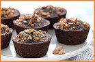 Mini Flourless PB Chocolate Cakes