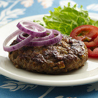 Hungry Girl's Healthy Dinner Recipes with Five Ingredients or Less: Onion Goodness Burger