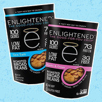 Healthy Amazon Snacks Worth Ordering: Enlightened The Good-For-You Crisp Roasted Broad Beans