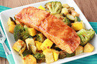 Spicy BBQ Salmon & Veggies