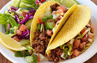 Crunchy Beef Tacos with Side Salad